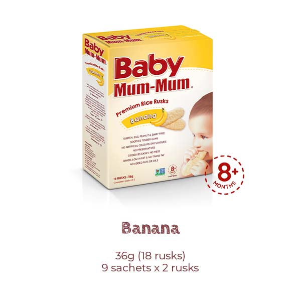 Baby Mum Mum Premium Rice Rusks Original Product